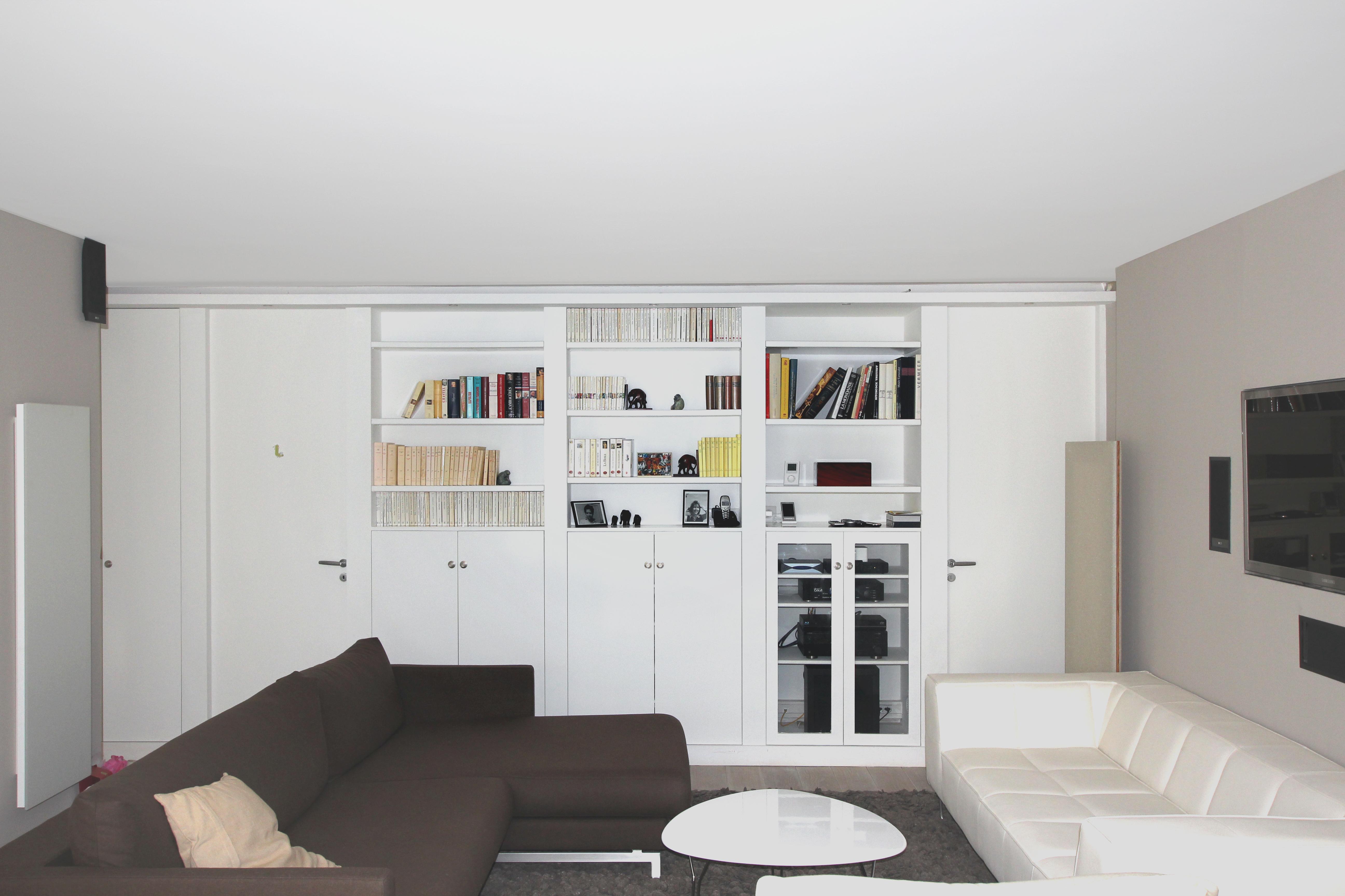 vue du meuble galerie depuis le salon. Black Bedroom Furniture Sets. Home Design Ideas