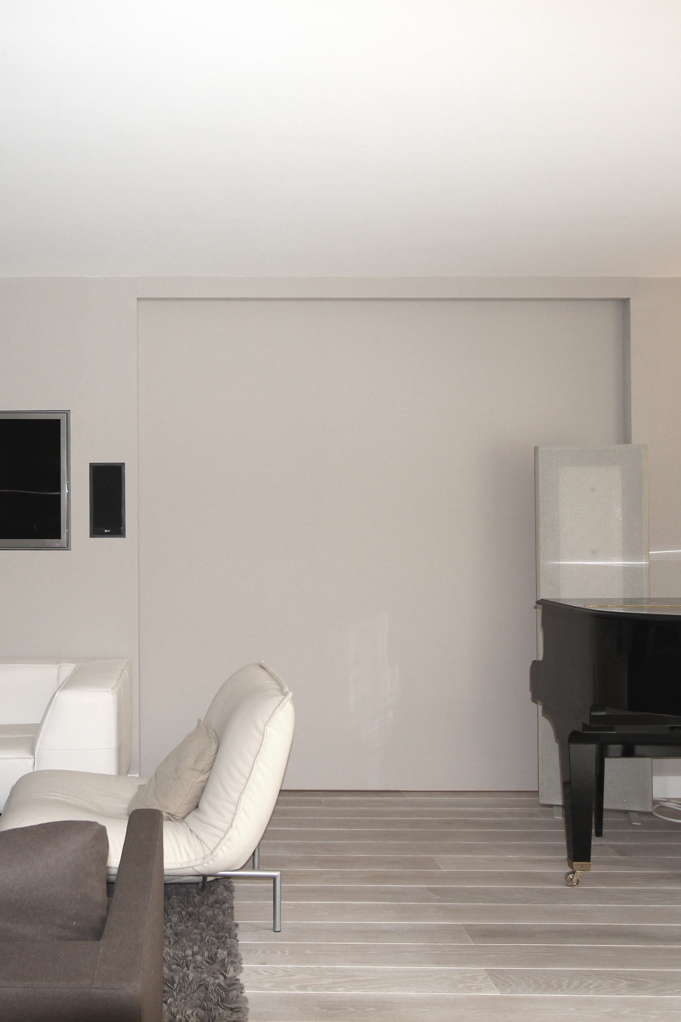 vue de la porte coulissante ferm e. Black Bedroom Furniture Sets. Home Design Ideas