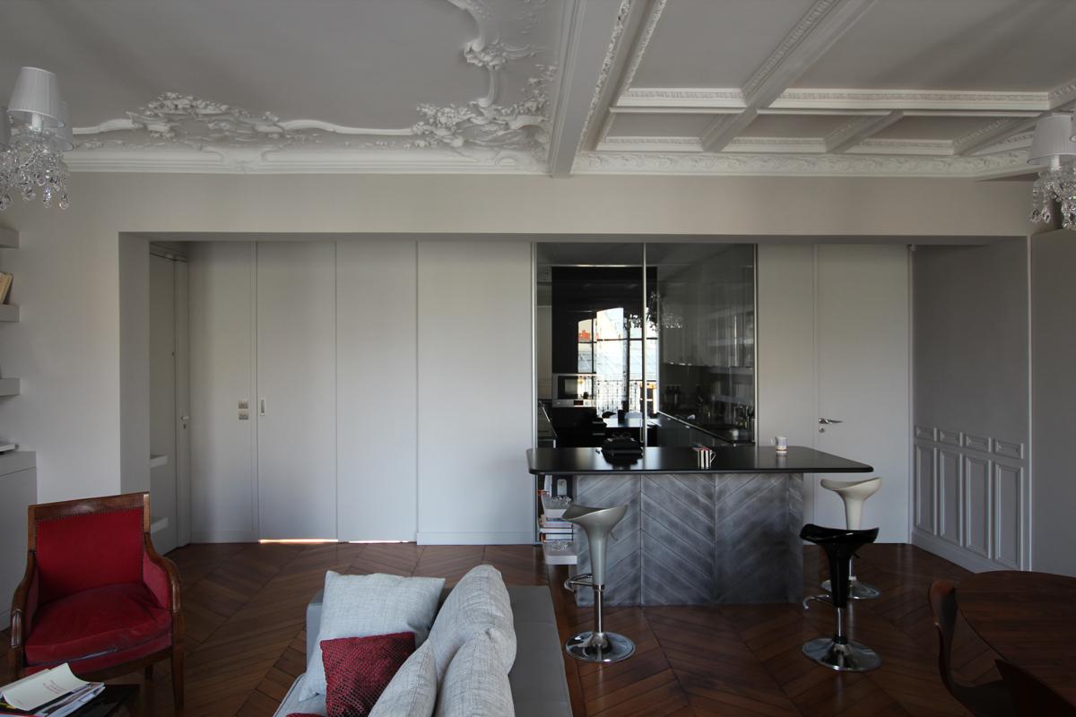 vue g n rale parois mobiles ferm es. Black Bedroom Furniture Sets. Home Design Ideas