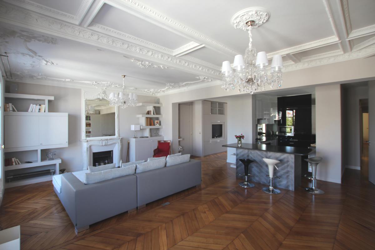 vue g n rale du salon. Black Bedroom Furniture Sets. Home Design Ideas